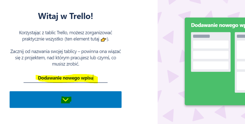 Używanie Trello