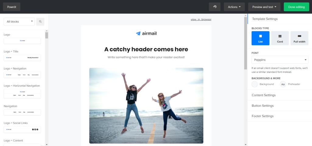 Jak korzystać z edytora drag and drop w Mailerlite?