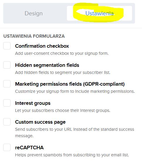 Ustawienia formularza zapisu na newsletter - jak zacząć prowadzić newsletter?