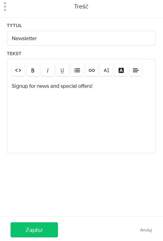 Jak zmienić treść w formularzu zapisu na newsletter? - jak zacząć prowadzić newsletter?