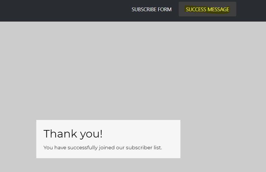 Thank you page, zrzut ekranu - jak zacząć prowadzić newsletter?