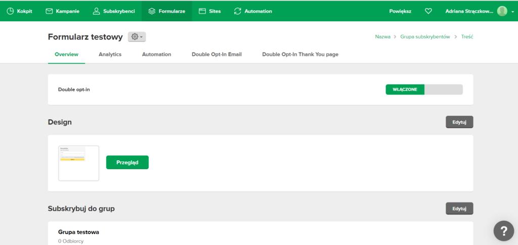 Jak stworzyć formularz zapisu na newsletter, zrzut ekranu - jak zacząć prowadzić newsletter?