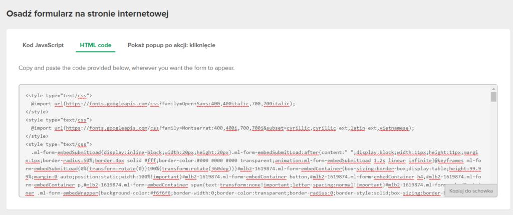 Zrzut ekranu z kokpitu Mailterlite - jak zacząć prowadzić newsletter?