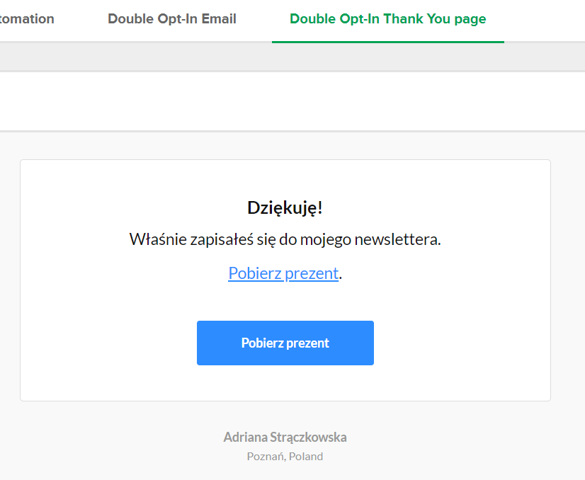 Jak wysłaś ebook za zapis do newslettera?