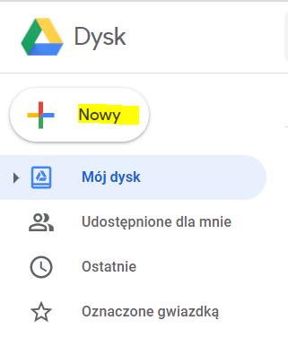 Jak umieścić plik na google drive?