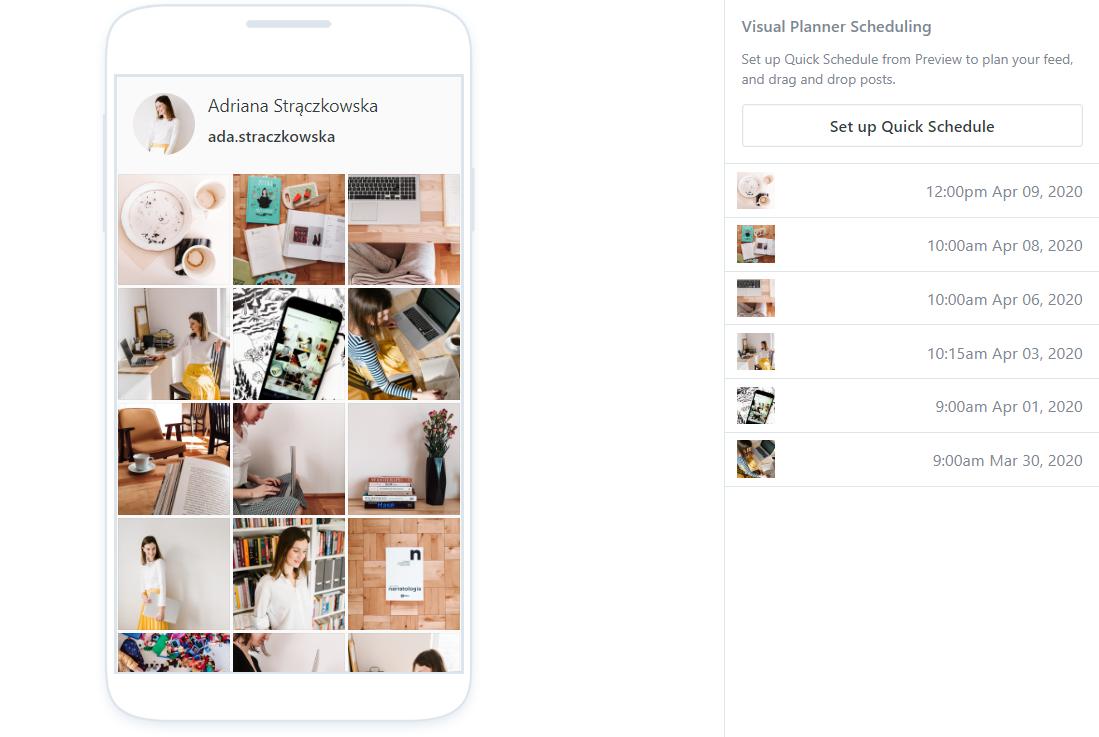 Later – aplikacja do planowania postów na Instagramie