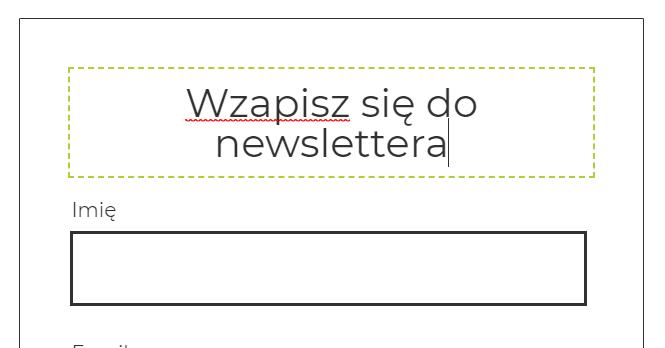 Jak stworzyć formularz zapisu na newsletter we Freshmailu