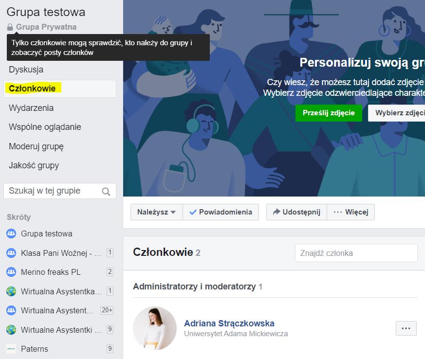 Jak nadać dostęp do grupy na Facebooku wirtualnej asystentce?