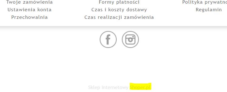 Na jakiej platformie klient ma postawiony sklep online?